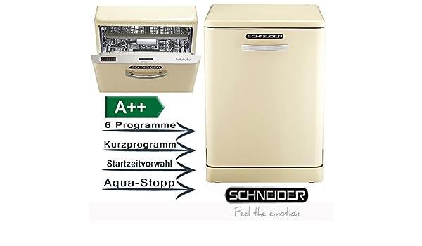 Retro Kühlschrank Schneider : Schneider gsp sc a k spülmaschine creme amazon elektro