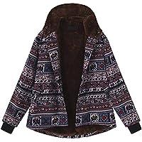 OIKAY Kapuzenjacke Damen Mäntel Winter Warmer Hoodie Pullover lang Strickjacke Winterjacke Frauen mit Kapuze Langarm Vintage Fleece Dicke Mäntel