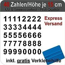 50mm 140 Klebezahlen wetterfest 5 cm schwarz Ziffern Zahl
