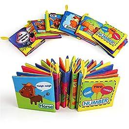 BelleStyle Libro Stoffa, Set Neonato, Quiet Book, Libro Tattile per Bambini, Gioco Libro Non Tossico