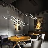 KOONTING Lámpara colgante LED, lámpara colgante cocina mesa de comedor lámpara de techo de la cocina sala de estar lámpara de techo LED de aluminio Lámpara , altura de la suspensión máximo de 100 cm.(48W,Blanco natural,4200k)