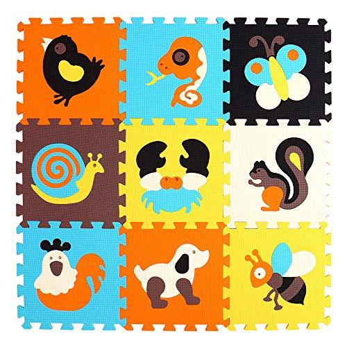 BUCHAQIAN Stilvolle Schaumstoffspielmatte für Babys Dickere und weichere Puzzlematte zum Krabbeln und Spielen | 100% sicher, geruchlos, formamidfrei, EN-71-zertifiziert P010G3010