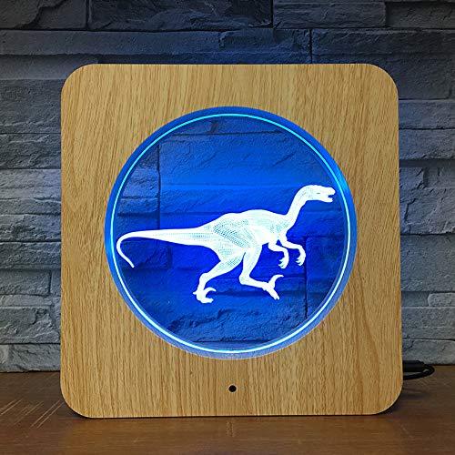 Laufender Dinosaurier 3D LED ABS Plastiknachtlicht DIY kundenspezifische Lampen-Tabellen-Lampen-Kind-Farben-Geschenk-Ausgangsdekor DropShipping 2695