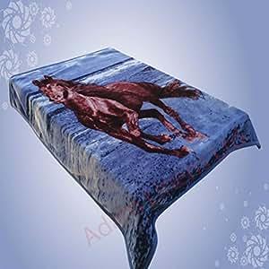 adams couvre lit en polaire motif cheval 8 bleu taille l 200 x 240 cm cuisine maison. Black Bedroom Furniture Sets. Home Design Ideas