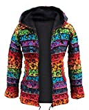 Shopoholic FASHION DAMEN bunt Winterjacke Jacke - Mehrfarbig, Medium
