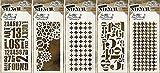 Tim Holtz stencil set–# 51to # 55–industriale, ingranaggi, Plus, numerico & Houndstooth–5item Bundle