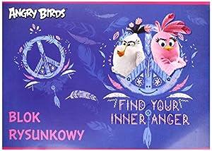 Interdruk BLRABM - Bloc de Dibujo (A4, 20 angrías, diseño de pájaros