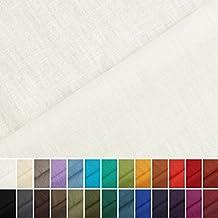Holmar - Tela 100% lino - Prelavado - Translúcido - Por metro (crema)