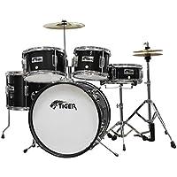 Tiger 5 Piece Junior Drum Kit - Black