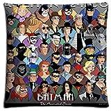 18x 1845,7x 45,7cm 45x 45cm Canapé Taies d'oreiller Cases Coton Polyester résistant à la décoloration antimicrobien Batman The Animated Series