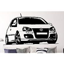 Pared Adhesivo Volkswagen Golf V, vinilo, negro, medium