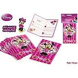 DISOK - Pack 10 Invitaciones Minnie
