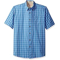 قميص كاروهات اصلي منسوج باكمام قصيرة للرجال من رانجلر Rivera XL
