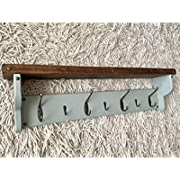 Handmade wooden coat hook rack key holder organiser rustic farmhouse plaque sign home family wall hanging decor art