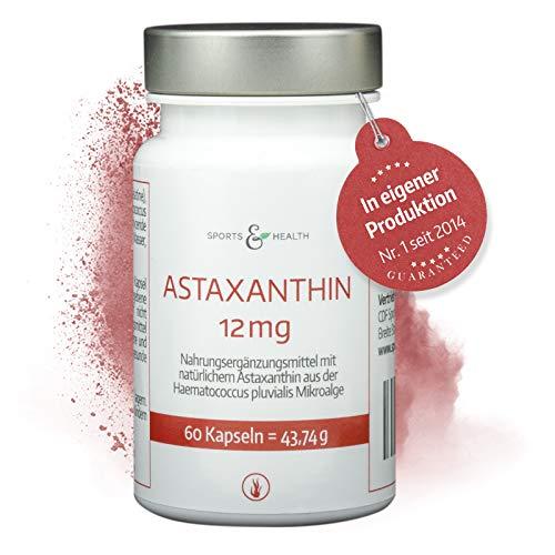 Astaxanthin 12 mg Kapseln Hochdosiert Inklusive Nachgewiesener 12 mg Analyse Im Produktbild - 4 Monatsvorrat - 60 Gel Caps