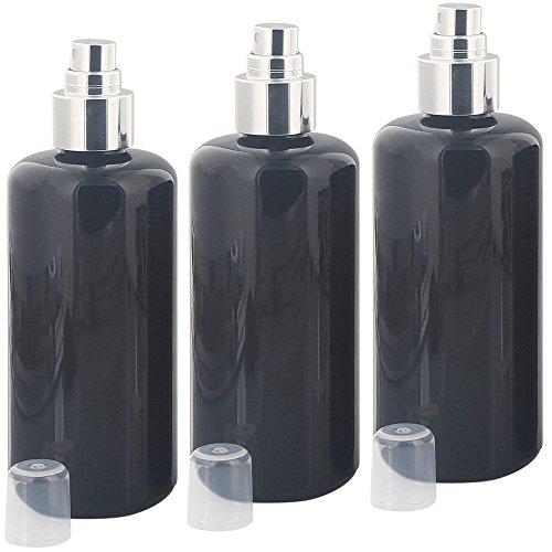 Violettglas 200 ml Zerstäuber-Flasche, silber Pumpzerstäuber Kosmetex Mironglas-Flasche, Flakon, leer, 3× 200 ml