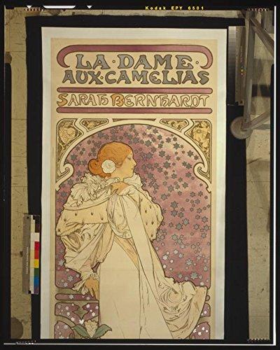Das Museum Outlet–La Dame Aux Camelias Sarah Bernhardt Original Scan 1–A3Poster