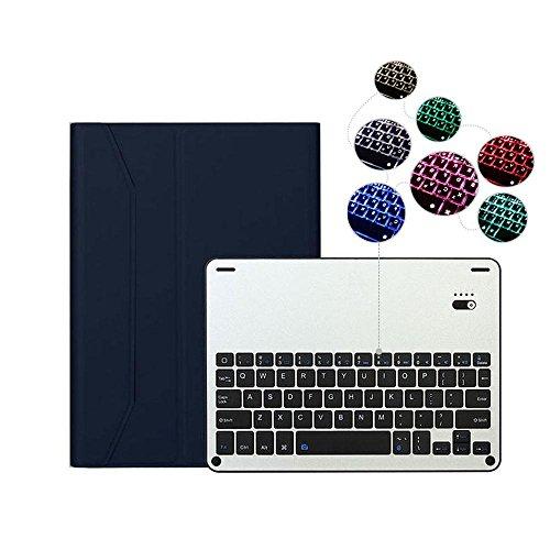 Preisvergleich Produktbild IPad Pro 10.5 Tastatur-hülle, Kobwa Ultra Dünn Abnehmbare Aluminium Hintergrundbeleuchtung Bluetooth Tastatur und PU Leder Folio Stand Abdeckung Fall für Apple IPad Pro 10.5 Zoll