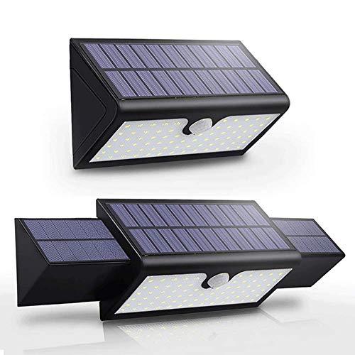 KX&VV Solarleuchte für Außen Solarlampe 71LED Wasserdichte Sicherheit Solarbetriebene Wandleuchte mit 3 Modi PIR 120 ° Bewegungssensor für Zaun Patio Yard Garten Größe: 21 * 12 * 7 5 CM (Schwarz)