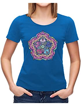 Mandala T-Shirt, Pink Mandala, Purple Mandala, Sun Salutation, Yoga Clothing, Meditation Clothing, Om T-Shirt,...