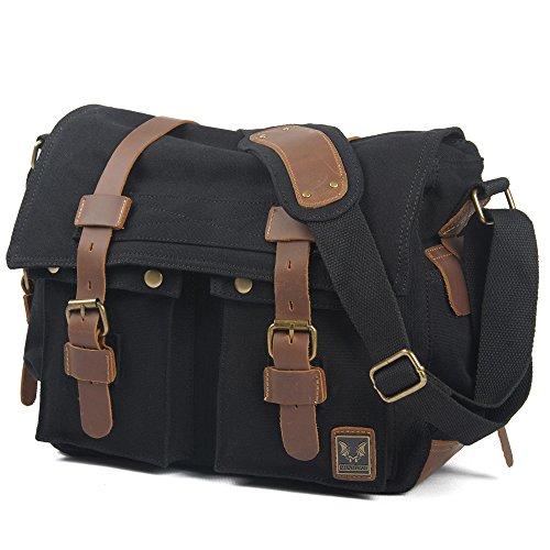 koson-man-unisex-vintage-casual-messenger-bag-literary-canvas-camera-bagblack