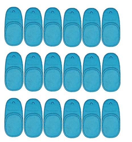 Rziioo 18 Stück Augenklappe für Brillen zur Behandlung von Lazy Eye/Amblyopie/Strabismus - Blau