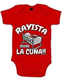 Body bebé Rayista desde la cuna Rayo Vallecano fútbol