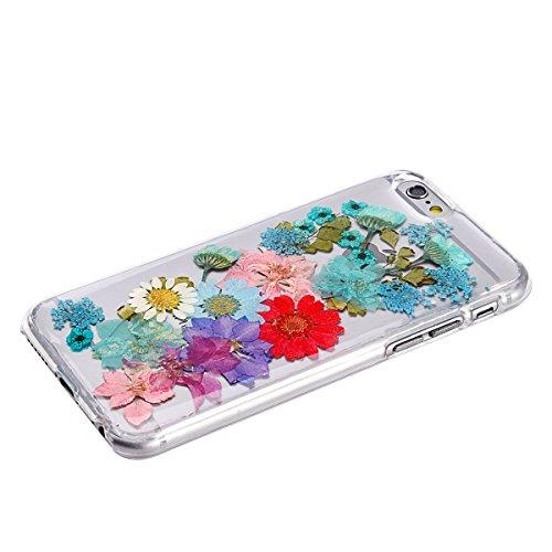 Schutzhülle für iPhone 6/6S, einzigartiges Design, gepresste Blumen, Handy-Schutzhülle, 11,9 cm (4,7 Zoll), Farbe 12 Color 14