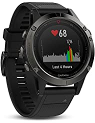 Fēnix 5 Gray avec Bracelet Noir - Montre GPS Multisports Outdoor