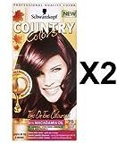 Schwarzkopf Land Farben Haarfärbemittel Farben col 75 Madagaskar - rot schwarz x 2 Packungen