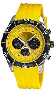 Reloj Accurist MS970YY de cuarzo para hombre, correa de silicona color dorado de Accurist