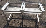 Waschmaschinen Untergestell Mara 2 Premium 6 700/2 Teleskop-Auszüge rappelfrei/6 Standbeine/Speziell für stark schwingende Maschinen/extra verstärkte Alu-Ausführung/rostfrei/Unterbau für 2 Maschinen