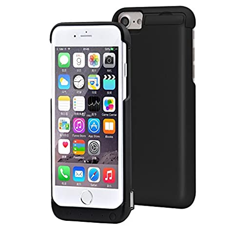 iPhone 6 iPhone 7 Battery Case , 5500mAh Rechargeable External Battery Protective Power Pack Case for iPhone 6/6S iPhone 7 (Back Up Power Bank with Kickstand 4.7