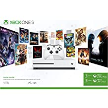 Microsoft Xbox One S 1 TB with Xbox Starter Bundle (3 Months Xbox Game Pass and Xbox Live Gold) (White)