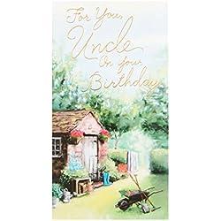 Hallmark Onkel Geburtstagskarte 'Glück' - Medium.