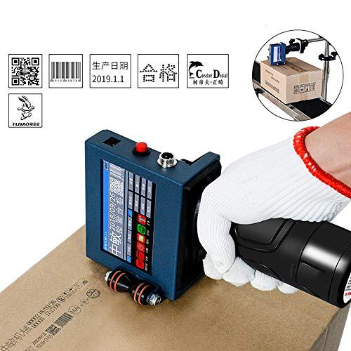 Rot-inkjet-drucker (CX TECH Smart Drucker Handheld Inkjet LED intelligente Bedienfeld Touchscreen + Tintenpatrone Druckmarke Logo Grafik Datum usw.)