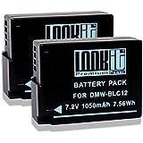 2x LOOKit® - Batterie - BLC12 E - 1050mAh pour Panasonic Lumix FZ2000 G81 FZ300 G70 GX8
