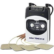 Axion - Electroestimulador N-10 TENS, 2 canales, 4 programas TENS ajustables. Perfecto para principiantes