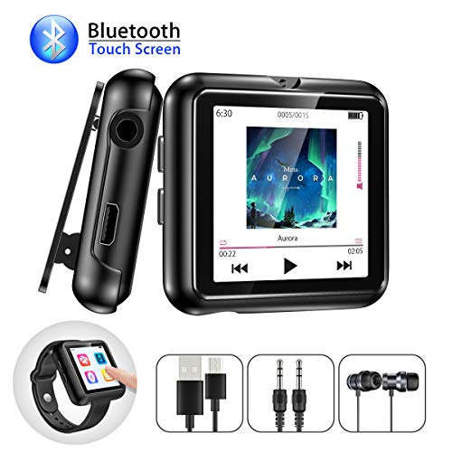 Fm-radio-telefon (Bluetooth MP3 Player 8GB mit Armband Clip und Touchscreen Olycism Mini Sport Musik Player FM Radio Diktiergerät mit Kopfhörern E-Book Video Player für Sport Joggen Speicher bis zu 128 GB möglich)