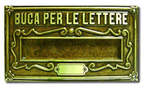 Alubox a8ob placa bucalettere Serie como latón barnizado fundido, bruñido