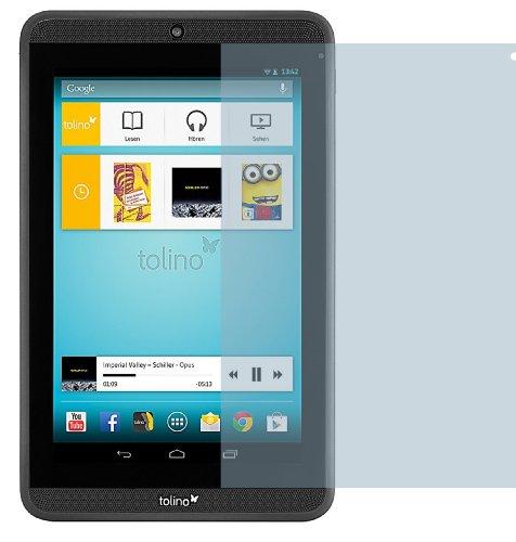 2x Tolino Tab 7 ENTSPIEGELNDE Displayschutzfolie Bildschirmschutzfolie von 4ProTec - Nahezu blendfreie Antireflexfolie