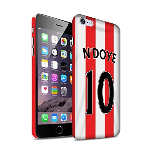 Offiziell Sunderland AFC Hülle / Matte Snap-On Case für Apple iPhone 6+/Plus 5.5 / Pack 24pcs Muster / SAFC Trikot Home 15/16 Kollektion N'Doye