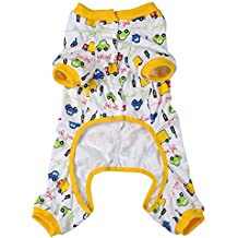WIDEN para mascotas ropa pijama para perro Mono Capa abrigo para perros 3 colores 4 tamaños