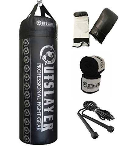 Outslayer 80lb Boxing and MMA Punching Bag Kit by Outslayer