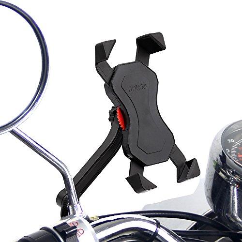 Anti-Shake Motorrad Handyhalterung Radsport Verhütung Von Abstürzen Fahrrad-Lenker Handyhalter Wiege Klammer Mit 360 Drehen Für 3,5-6,5 Zoll Smartphone GPS Andere Geräte