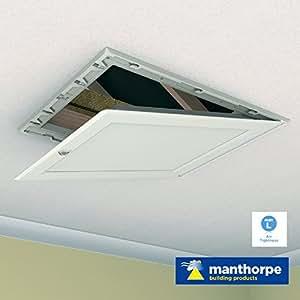 Porte Trappe pour grenier ou loft - Blanc - charnière Drop Down Insulated Hatch