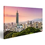 bilderfelix® Bild auf Leinwand Taipeh Taiwan Skyline des