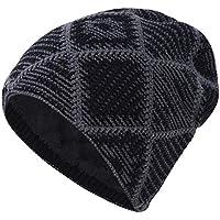 winterswet Sombrero de Lana de Tejer para Hombres Etiqueta de Metal de  Terciopelo al Aire Libre b49b8499840
