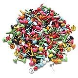 REFURBISHHOUSE Los von 200 Mini Pariser Befestigungen Mehrfarben Papier Handwerksstempeln Scrapbooking Heimwerker-Werkzeug 4,5mm