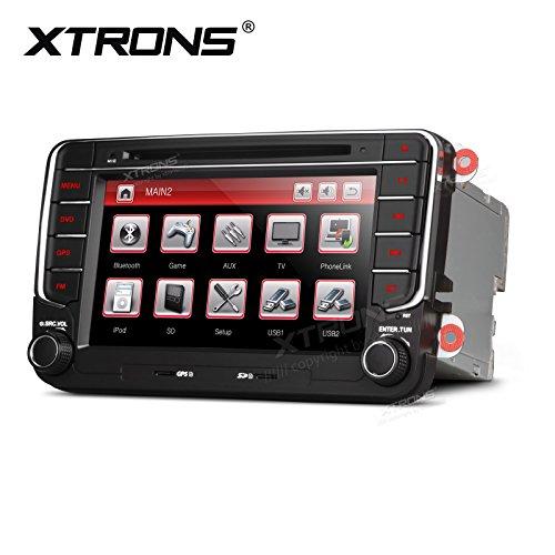 """XTRONS Radio estéreo, DVD, GPS para coche, doble DIN, pantalla táctil HD de 7\"""", doble CANbus, función de espejo, para VW, Skoda, Seat, Golf EOS"""